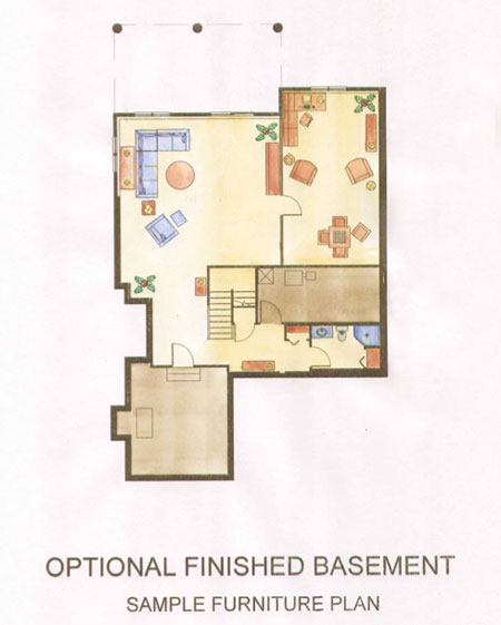 Free home plans finish basement floor plans for Free finished basement plans
